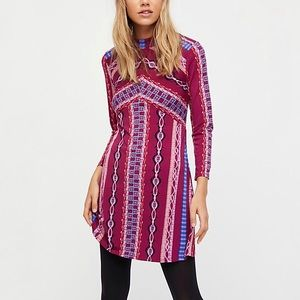 Free People | Stella Retro Long Sleeve Mini Dress